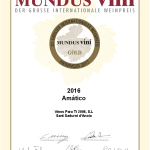 Medalla de Oro Mundu Vini 2017